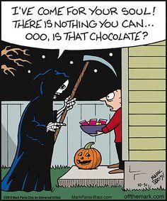 Funny Chocolate Halloween Aka If I Was The Reaper