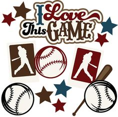 I Love This Game SVG Scrapbook Collection baseball svg files for scrapbooking baseball svg cuts files