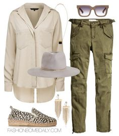 What to Wear on a Safari French Connection Utility Shirt H&M Cargo Pants Prism Dalmatian Print Calf Hair Espadrille Zimmermann Felt Short Brim Hat