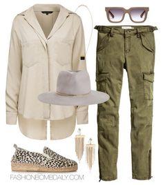 What to Wear on a Safari French Connection Utility Shirt H&M Cargo Pants Prism Dalmatian Print Calf Hair Espadrille Zimmermann Felt Short Brim Hat