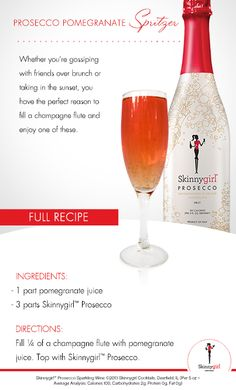 #DrinkLikeALady with this elegant & effortless Prosecco Pomegranate Spritzer.