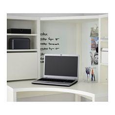 MICKE Posto de trabalho de canto - branco - IKEA