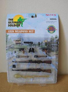 """Ultimate Soldier  WWII Series """"AXIS WEAPONS SET"""" Military Playset  #60050 NIP"""