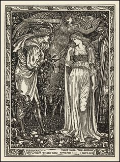 Shakespeare's The Tempest — Act I Scene II — by Walter Crane ca 1900
