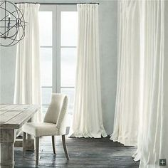 極細繊維カーテン 白色 無地柄 麻&綿 1級遮光カーテン(1枚)