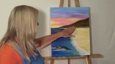 """Free Painting Lessons: """"How to"""" guided acrylic painting for beginners (T..."""