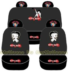 NEW Betty Boop Car Seat Covers Set in Vehicle Parts & Accessories, Car Accessories, Interior Accessories Back Seat Covers, Car Seat Cover Sets, Betty Boop Gifts, Original Betty Boop, Betty Boop Figurines, Betty Boop Purses, Black Betty Boop, Love Is Comic, Betty Boop Cartoon