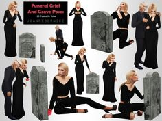 "joannebernice: "" FUNERAL GRIEF AND GRAVE POSES REQUEST Another anonymous request. I found some real use for this pose pack because there aren't heaps of sad and crying poses in game unless there is an actual death. So i know this one will help out my. Sims Mods, Sims 4 Game Mods, Sims 4 Couple Poses, Couple Posing, Star Citizen, Funeral, Sims Stories, The Sims 4 Packs, Sims 4 Black Hair"