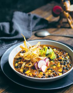 Tortilla soup recipe by Mo Wyse - Heat the olive oil in a large saucepan over medium heat. Add the capsicum, onion, jalapeño and a large pinch of salt and cook until soft. Get every recipe from Smith & Daughters by Mo Wyse