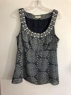 a126010a642 Ann Taylor Loft Black and White Polka dot tank cami shirt size XS.
