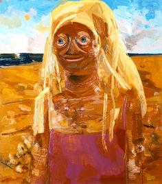 Dana Schutz<br /> <i>Daytona</i>, 2005<br /> oil on canvas<br /> 36.5 x 32 inches<br /> 92.7 x 81.3 cm