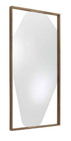 The Large Belize Mirror by Kensaku Oshiro 2011 can be mounted horizontally or vertically. It is 180 x 90 and the frame which is finished in either solid american walnut or black stained solid ash is 6cm deep
