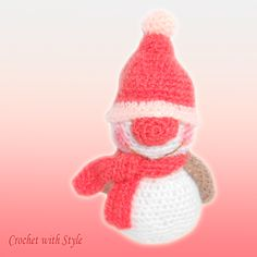 This is cute little Snow Bell crochet pattern. This cute loves the snow and is very easy to make.