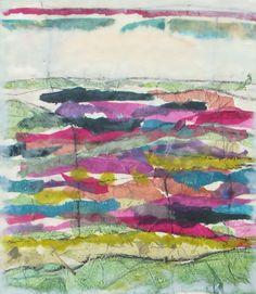 Collage for Green Fields by Peg Bachenheimer