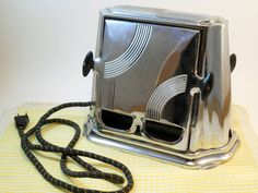 Vintage Working Flopper Toaster Electric With Art Deco Styling Retro Kitchen Appliance by ThirdFloorRetro, $15.00
