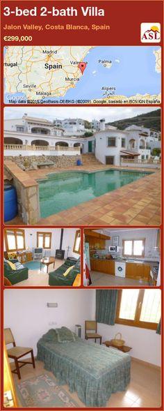 3-bed 2-bath Villa in Jalon Valley, Costa Blanca, Spain ►€299,000 #PropertyForSaleInSpain