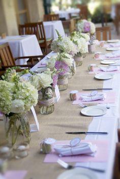 baby shower, sip & see, mason jar flower, ball jar flower, owl theme, burlap, macaroon, macaron, @a {taylor made} wedding