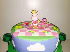 Bolo Fake Peppa, festa infantil, menina, adorno Peppa, porcelana fria, decoração festa, Candy Bar.