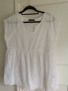 Marks And Spencer Size 12 Cotton Top With Broderie Anglaise And Embroidery.detail Used but in excellent condition Dispatched with Royal Mail Class. Cotton Kaftan, Cotton Blouses, Royal Mail, Cotton Lights, Crochet Trim, Tunic Blouse, Boho Tops, Peasant Tops, Size 12