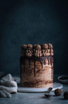 Nutella Stuffed Chocolate Hazelnut Dream Cake - The Kitchen McCabe - The Kitchen McCabe - Chocolate Hazelnut, Homemade Chocolate, Hazelnut Cake, Cake Chocolate, Chocolate Cake Designs, Chocolate Drip, Cake Recipes, Dessert Recipes, Bolo Cake