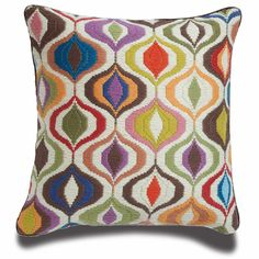 Jonathan Adler Multi Bargello Waves Pillow in Bargello Cushions