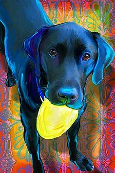 There's an artist in the area that will do paintings of your dogs like these!