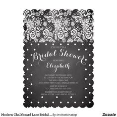 Bridal Shower Invitation  Silver Gold Chalkboard  Classy Nice