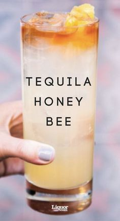 Tequila drink recipes, Tequila honey bee cocktail recipe can be smooth or sweet. Tequila is one of the healthier alcohols you can drink. Tequila honey bee Drinks The Tequila Honey Bee Cocktail Bar Drinks, Cocktail Drinks, Yummy Drinks, Cocktail Tequila, Lemon Cocktails, Tequila Mixed Drinks, Tequila Tequila, Lemon Drink, Sweet Alcoholic Drinks