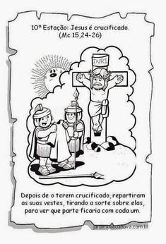 Jardim da Boa Nova: Via Sacra Comics, How To Make, Kids, History Of Easter, Sunday School Kids, Kids Bible Activities, Bible Lessons Kids, Catechism, Sunday School