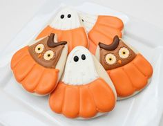 Owls and Ghosts in Pumpkin Cookies!  Too Cute!