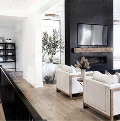 Home Living Room, Living Room Decor, Living Spaces, Home Fireplace, Fireplace Design, Fireplaces, Interior Design Living Room, Living Room Designs, Living Room Inspiration