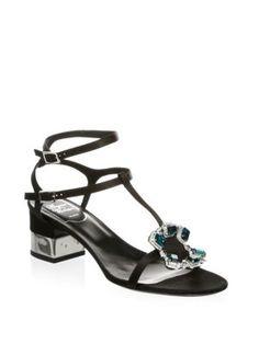 ROGER VIVIER Premium Crown Jewels Sandals. #rogervivier #shoes #