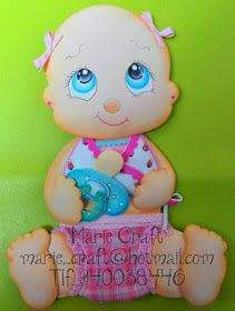 Hola!   Comparto con ustedes moldes para baby showers.   Pueden ser usados en papel, carton, cartulina, telgopor, goma eva,etc.   Les...