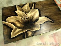 Use WOOD STAIN to make Artwork! Very similar to working with charcoal. Check it out! {Sawdust and Embryos}