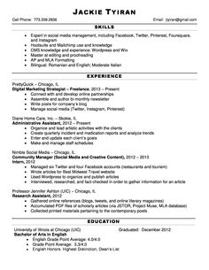 Resume For Hairstylist Jackie Tyiran#resume This Is A Jpg Version Of My Resumegive It