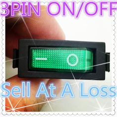 1.47$  Buy now - http://alisk8.shopchina.info/go.php?t=32736972895 - 5pcs G124 Green LED Light SPST 3PIN ON/OFF Boat Rocker Switch 16A/250V 20A/125V Car Dash Dashboard Truck RV ATV Sell At Loss  #magazine