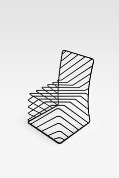 thin black lines chair
