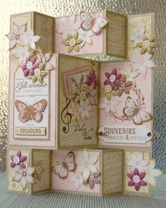 home decor fleur and papillon-de STEFANIA: http://blog-florilegesdesign.fr/2014/04/20/creations-de-stefania/