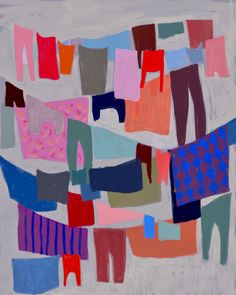 Drying Laundry by Ophelia Pang on Artfully Walls