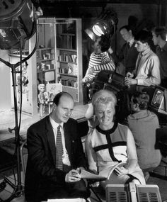 Filming Thunderbirds (Gerry and Sylvia Anderson in foreground)