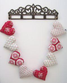Heart Garland made from TILDA fabric - £20  www.facebook.com/mellasmakings