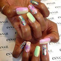 """Thank you for coming @thisisirielove Nails by @kiko_mikiko ☆Price → esNAIL special $120☆ #nail #nailart #naildesign #gel #gelart #gelnail #geldesign…"""