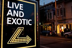 Live and Exotic Fillmore Street, San Francisco