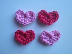 HaakZaken: Patroon gehaakte Valentijn hartjes