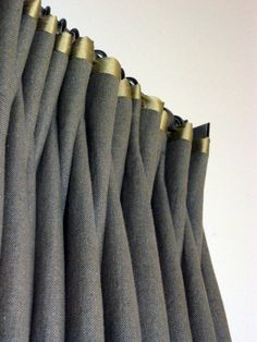 Fabulous Linen Drapes with tonal seaming in silk
