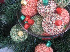 Rice Krispy treat ornaments - so cute!