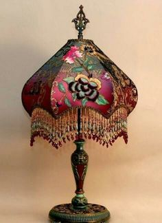 Gothic lamp shade convert a common lamp shade into dreadfully scanned from elle decor may aloadofball Image collections