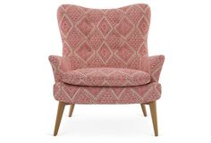 Sonja Aztec Chair, Pink/White