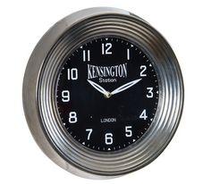 Reloj de Pared en Metal Negro 7 x 32 x 32 centímetros