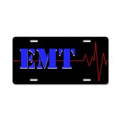EMT Heart Beat Aluminum License Plate > EMT Heart Beat > The Art Studio by Mark Moore